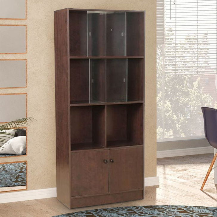 Lara Engineered Wood Large Book Shelf in Wenge Colour by HomeTown