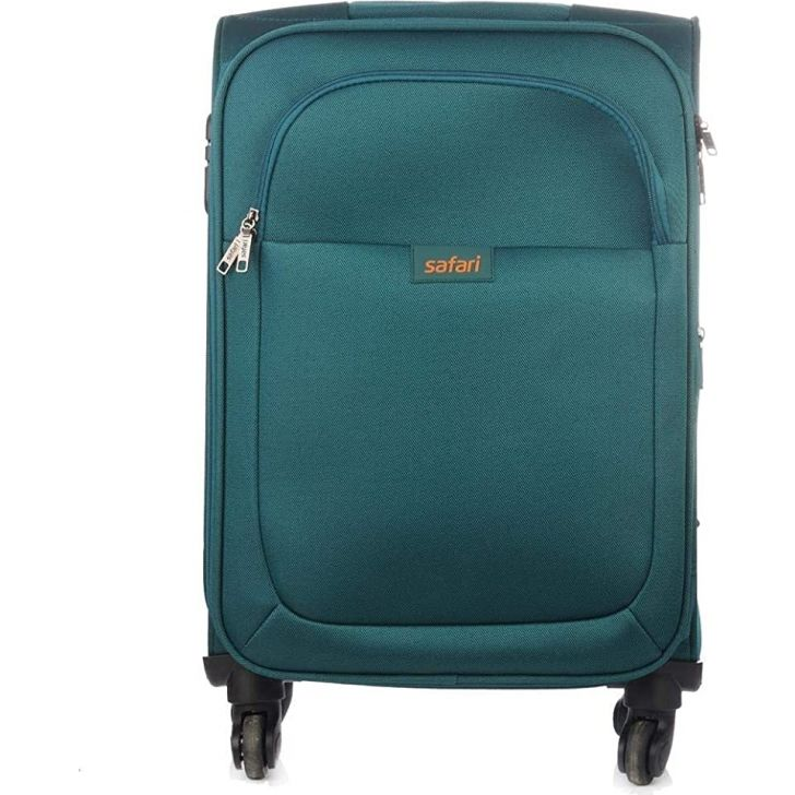 Jazz 55 cm Polyester Soft Trolley in Blue Colour by SAFARI