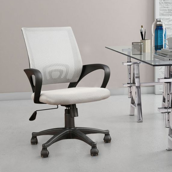 Bolton Fabric Office Chair in Grey Colour by HomeTown
