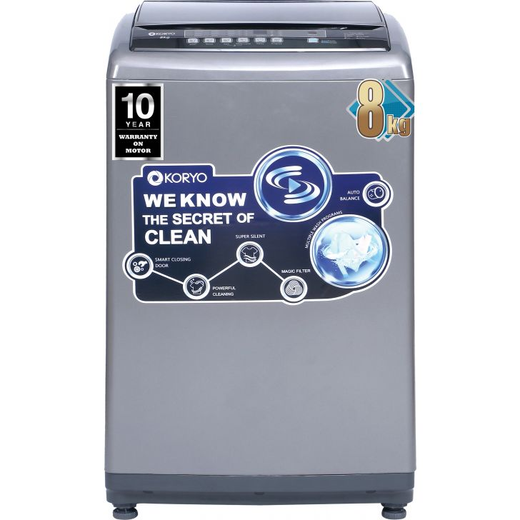 Koryo KWM8018TL Washing Machine in White Colour by Koryo