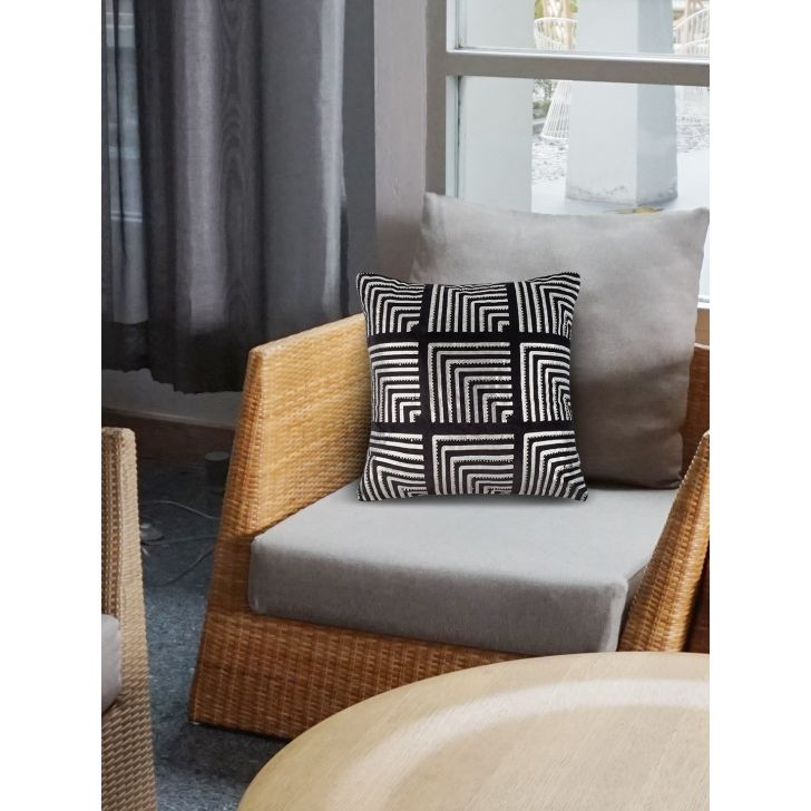 Chic Affair Chrysler Ceramic Cushion Covers in Black Colour by Living Essence