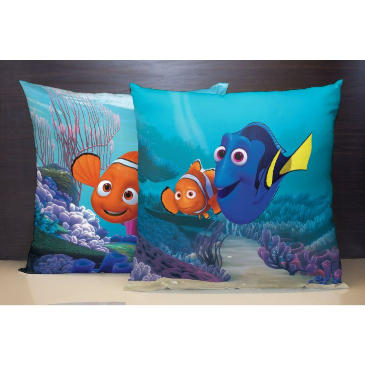 Spaces Disney Dory Reversible Polyester Blue Cushion Cover Set Of 1