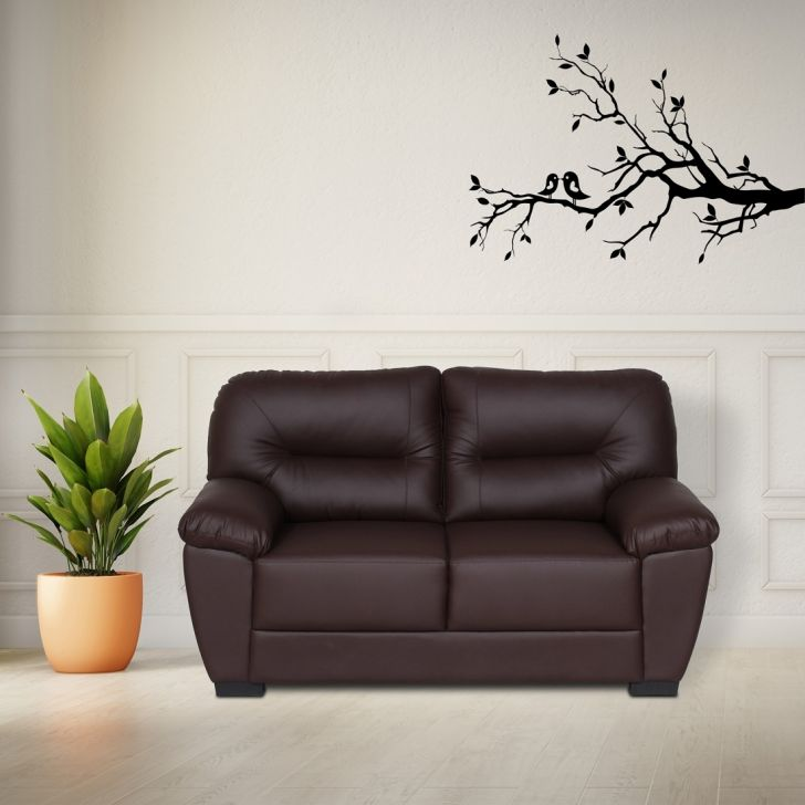 Vista Solid Wood Two Seater Sofa in Brown Colour by HomeTown