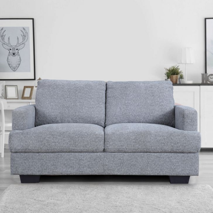Marley Solid Wood Two Seater Sofa in Grey Colour by HomeTown