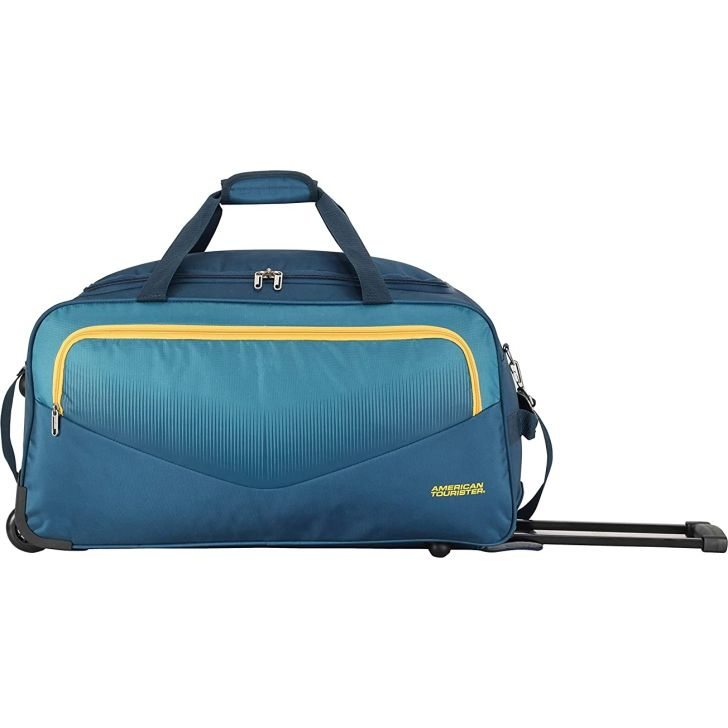 Ohio 65 cm Polyester Duffle on Wheel in Blue Colour by American Tourister