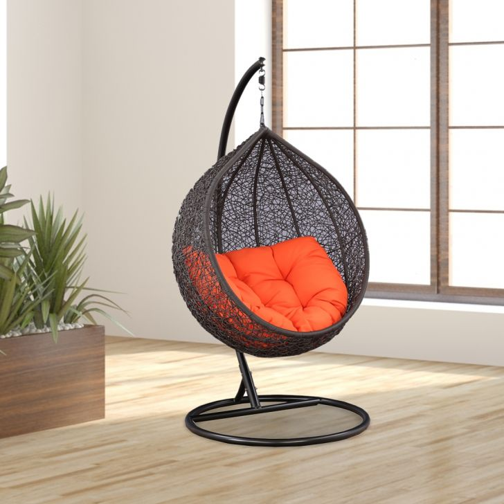 Scarlet Mild Steel Outdoor Swing in Brown Colour by HomeTown