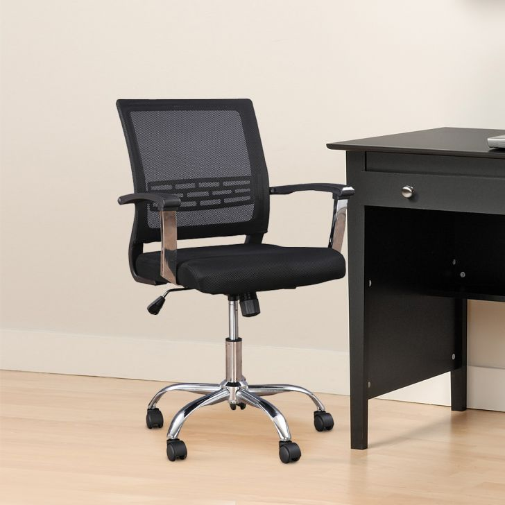 Titus Fabric Office Chair in Black Colour by HomeTown