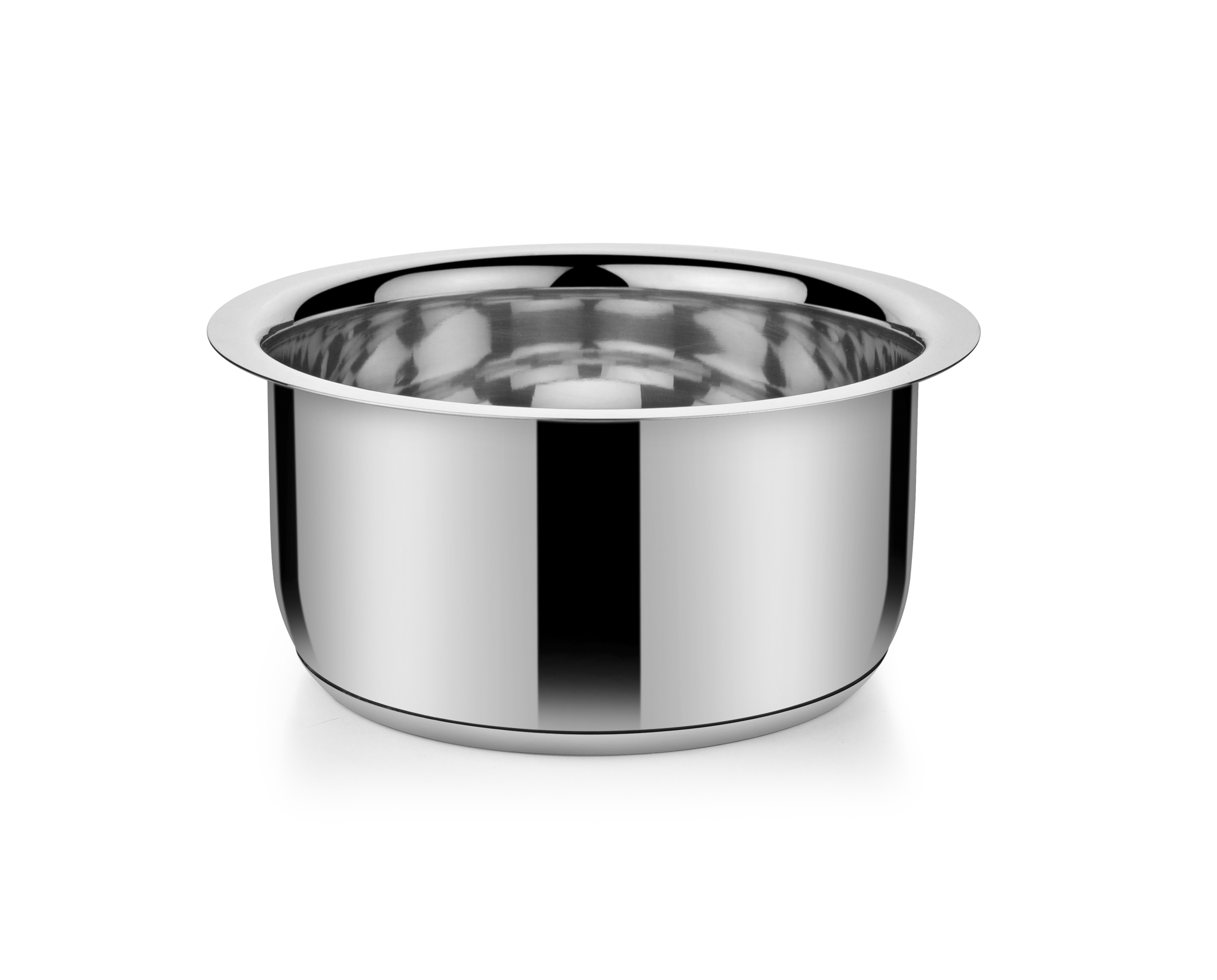 SS Milk Pan Encap btm 3300 ml 24 cm Stainless steel Sauce Pans in Stainless Steel Colour by Bonita