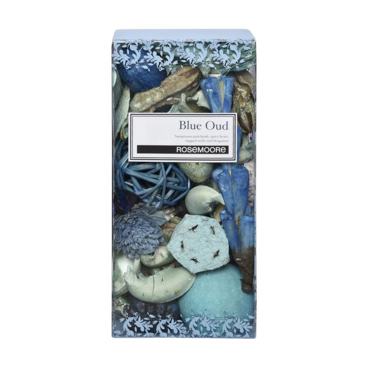 Rosemoore Scented Pot Pourri Blue Oud Wood Home Fragrances 313g in Yellow Colour by Rosemoore