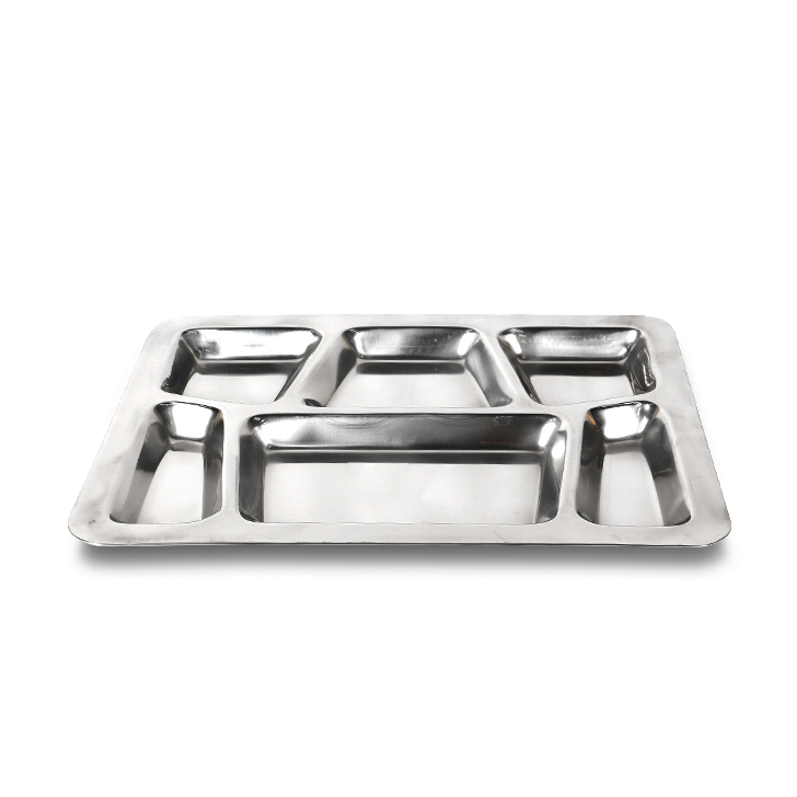 Stainless Steel American Section Plate Stainless steel Plates in Silver Colour by Living Essence