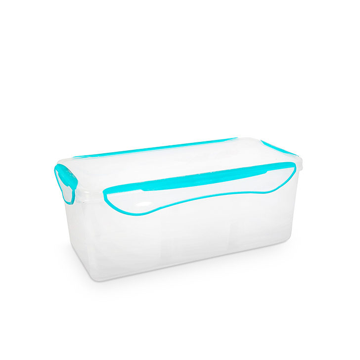 Clip Fresh Polypropylene Container With 3 Partition Polypropylene Containers in Teal Colour by Living Essence