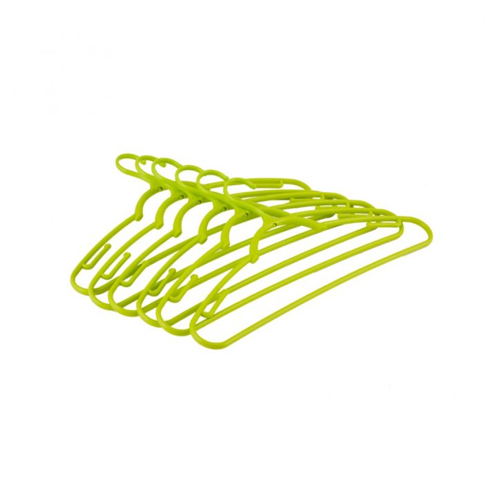 Plastic Rotating Hanger Set of 6 in Green Colour by Living Essence
