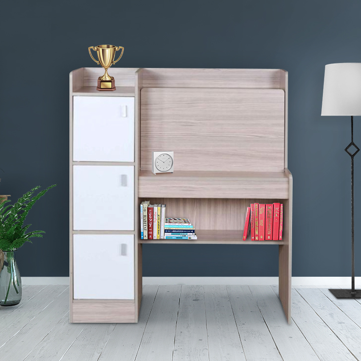 Ace Engineered Wood Study Table in White Colour by HomeTown