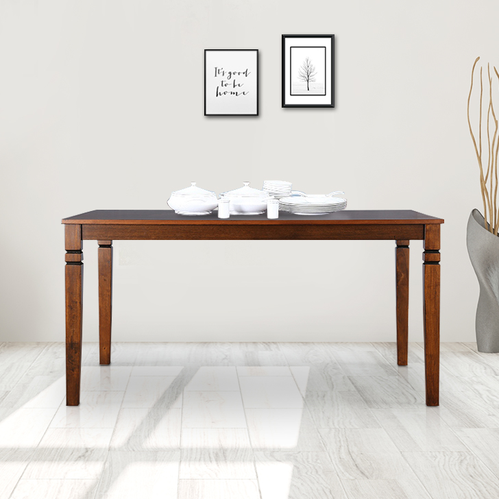 Maverick Solid Wood Six Seater Dining Table in Antique Cherry Colour by HomeTown