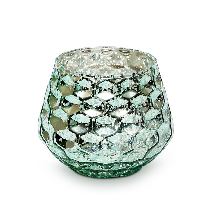 Zahara Faceted Glass Candle Holders in Assorted (Red, Yellow, Brown & Green) Colour by HomeTown