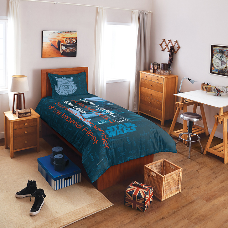 Spaces Cotton Single Bed Sheets in Blue Colour by Spaces
