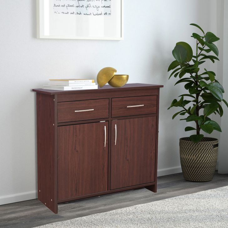 Albert Engineered Wood Multipurpose Cabinet in Cherry Brown Colour by HomeTown