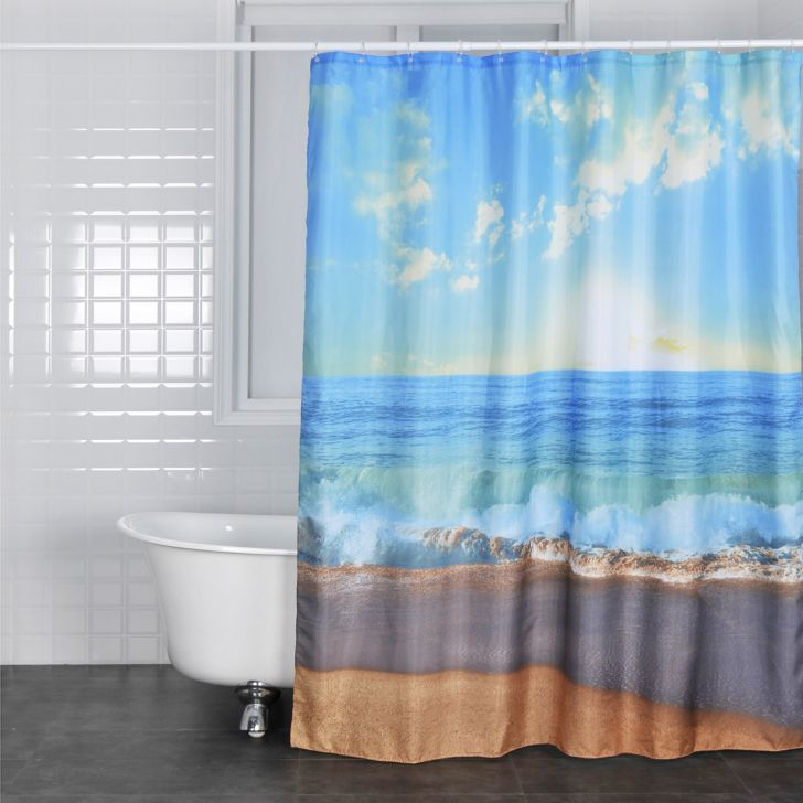 Glam Polyester Shower Curtain 180X200 Cm in Multi Colour