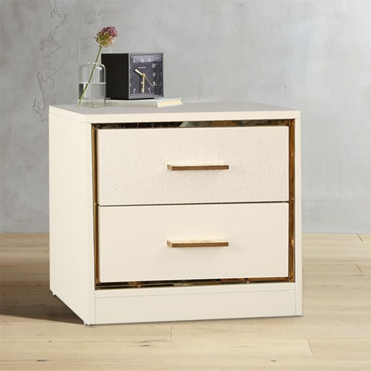 Stellar Engineered Wood Bedside Table in Walnut Colour by HomeTown