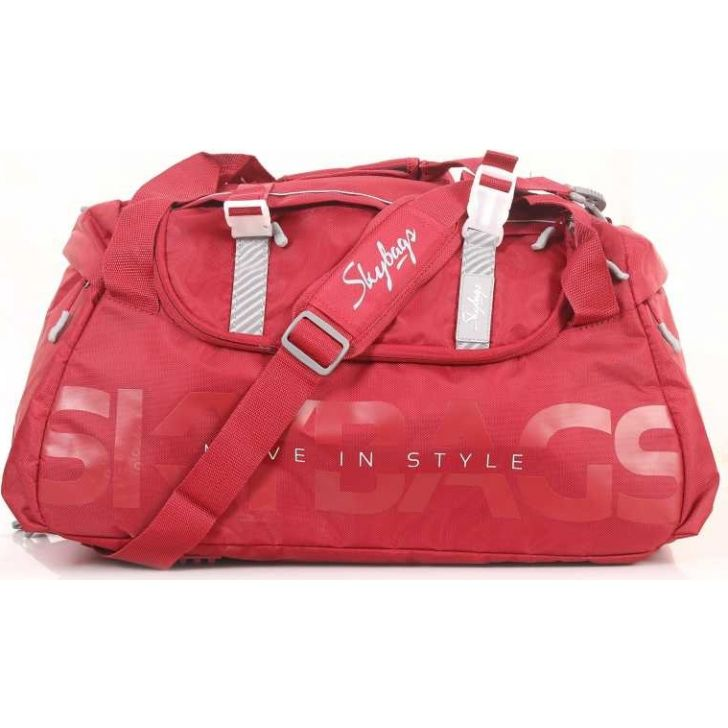 Snazzy 54 cm Polyester Duffle Airbag in Red Colour by Skybags