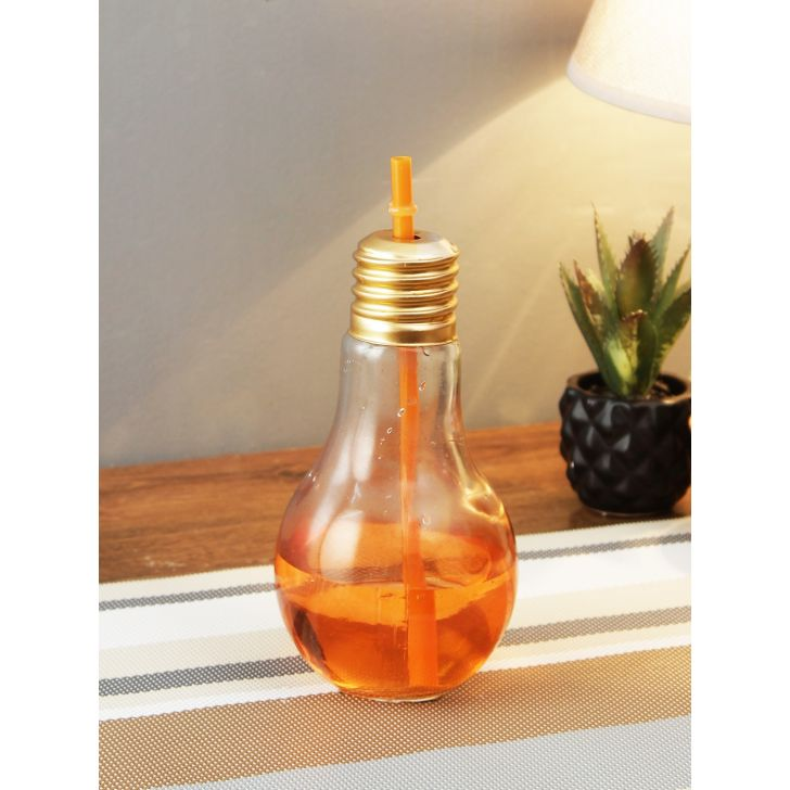 Living Essence Glass Sipper in Orange Colour by Living Essence