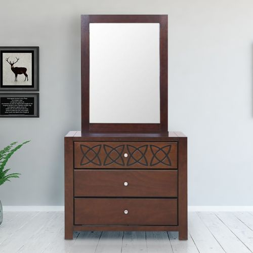 e77346181 Buy Astra Solid Wood Dressing Table in White Colour by HomeTown Online at  Best Price - HomeTown.in