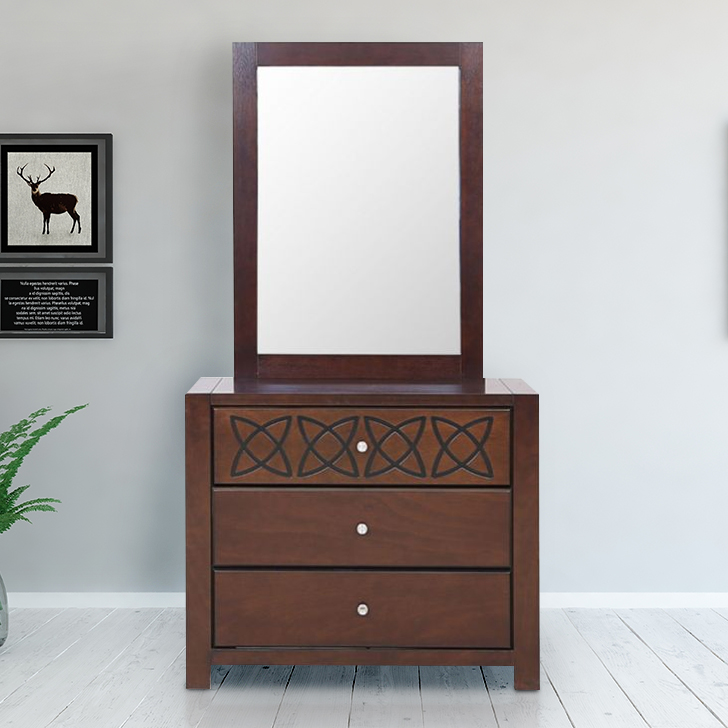 Astra Solid Wood Dressing Table in White Colour by HomeTown