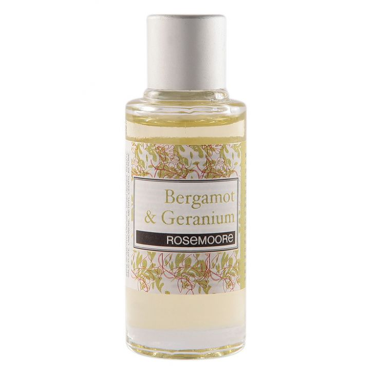 Rosemoore Scented Home Fragrance Oil Bergamot & Geranium Bergamot & Geranium Home Fragrances in Green Colour by Rosemoore