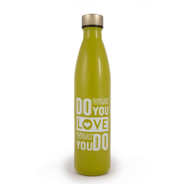 LE Carry On Bottle Set Of 2 Grn & Lime Glass Glass Bottle in Green & Lime Colour by Living Essence