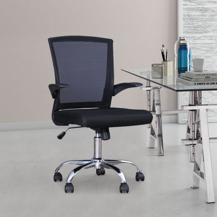 Swing Engineered Wood Office Chair in Black Colour by HomeTown