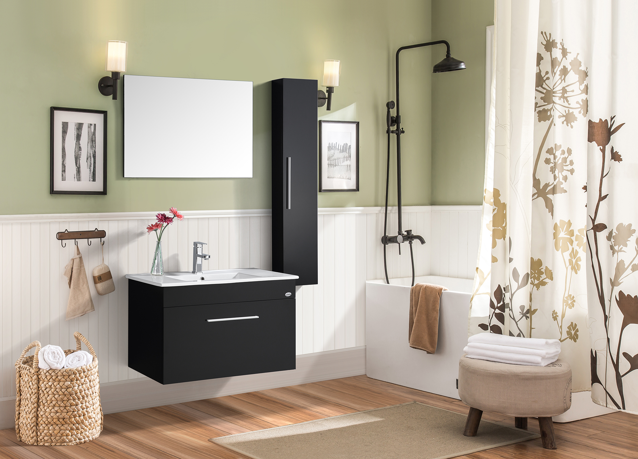 Magnum Bath Vanity in Black Colour by HomeTown