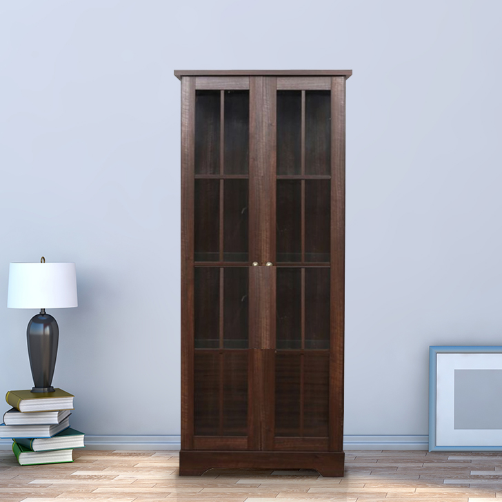 Holly Engineered Wood Book Shelf in Walnut Colour by HomeTown