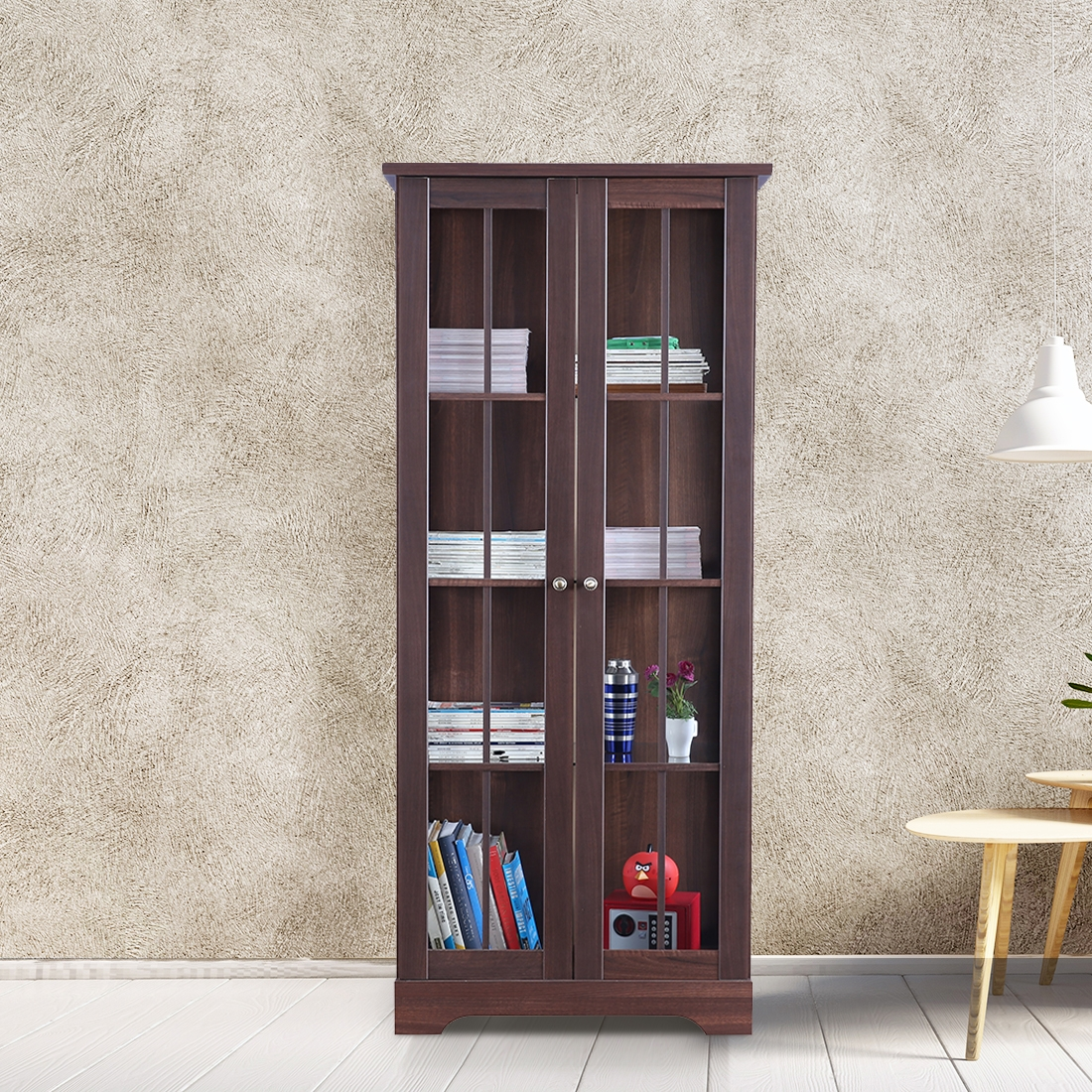 Buy Holly Engineered Wood Book Shelf In Walnut Colour By
