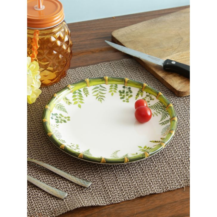 Nora Ferns Bamboo Melamine Buffet Plate in Multi Colour by Living Essence