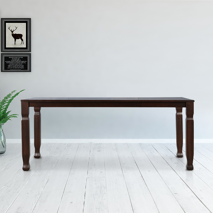 Victoria Solid Wood Six Seater Dining Table in Wenge Colour by HomeTown