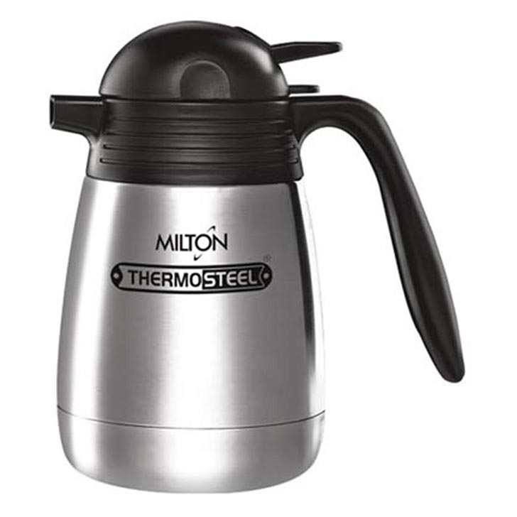 Milton Thermo Carafe Vacuum Insulated Flask 600 ml Stainless steel Thermoware in Steel Color Colour by Milton