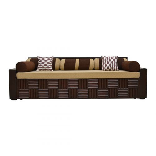 0a729758ea4 Buy Shine Plywood Sofa Cum bed in Brown Colour by HomeTown Online at ...