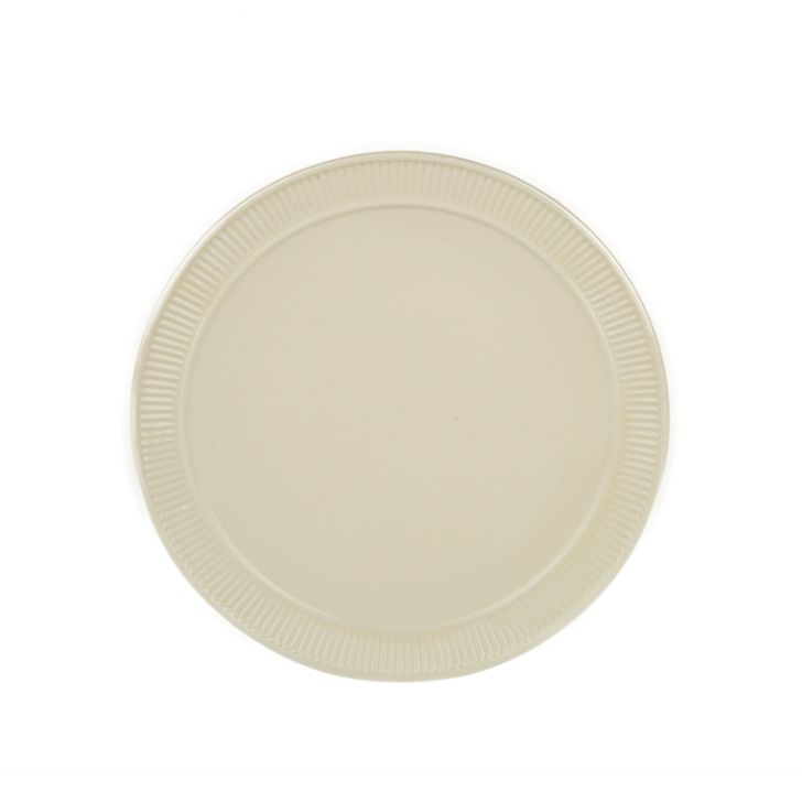 Bk Dinner Plate Ceramic Plates in White Colour by Living Essence