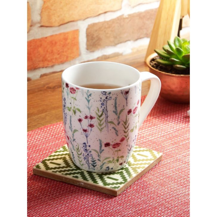 Bahamas Bone China Single Coffee Mug in Multi Colour by Living Essence