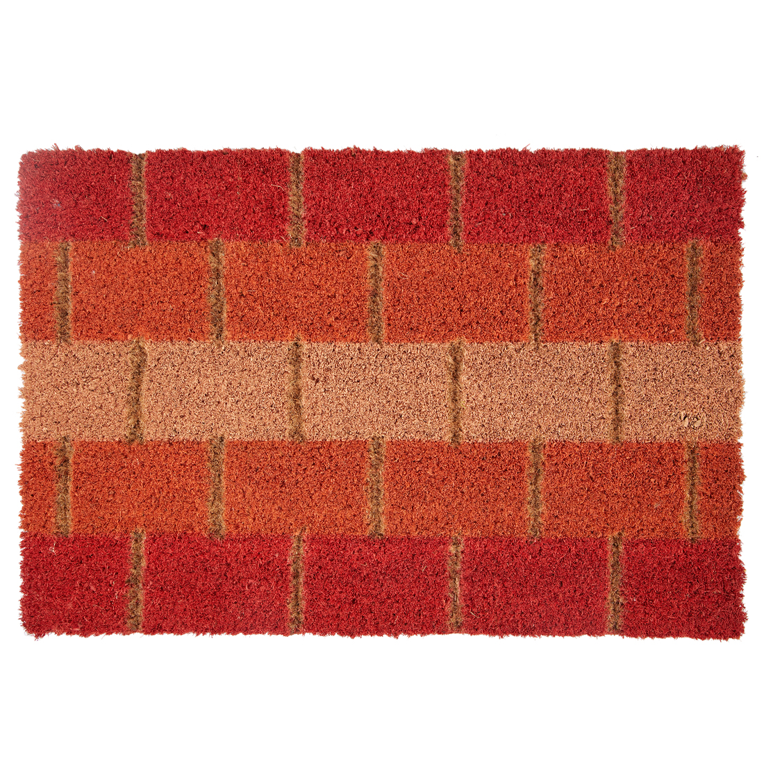 Natura Doormat Brick Rust Door Mats in Brick Rust Colour by Living Essence