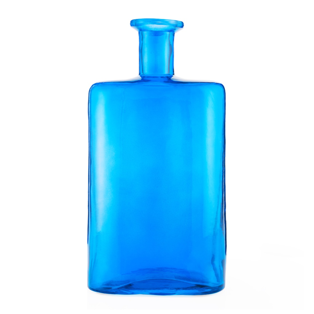 Ambrosia Square Bottle Vase Teal Glass Vases in Teal Colour by Living Essence
