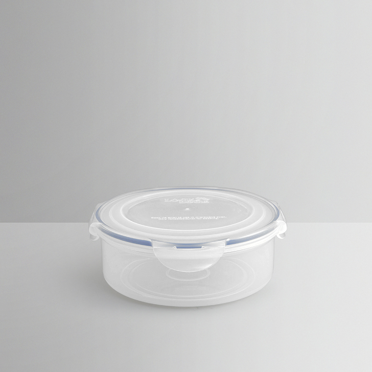 Lock & Lock White Round Container Plastic Containers in Transparent Colour by Lock & Lock