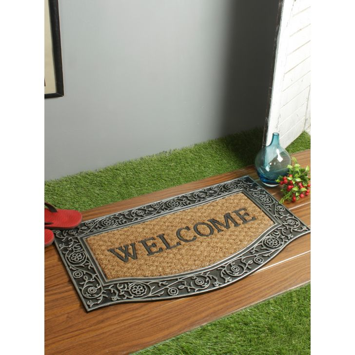 Moulded Pvc Door Mats in Brown Colour by Living Essence