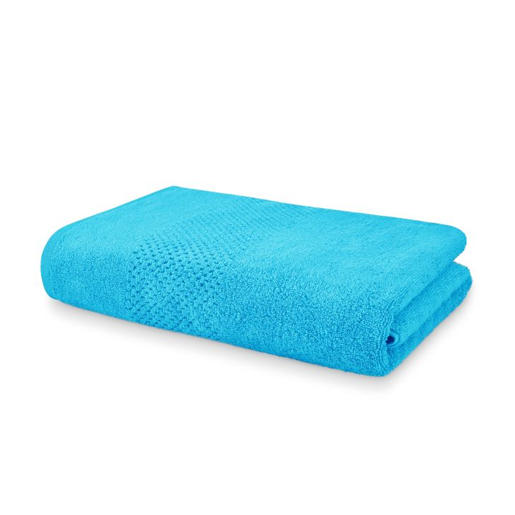 Spaces Atrium Cotton Double Bed Sheets in Hawain Blue Colour by Spaces