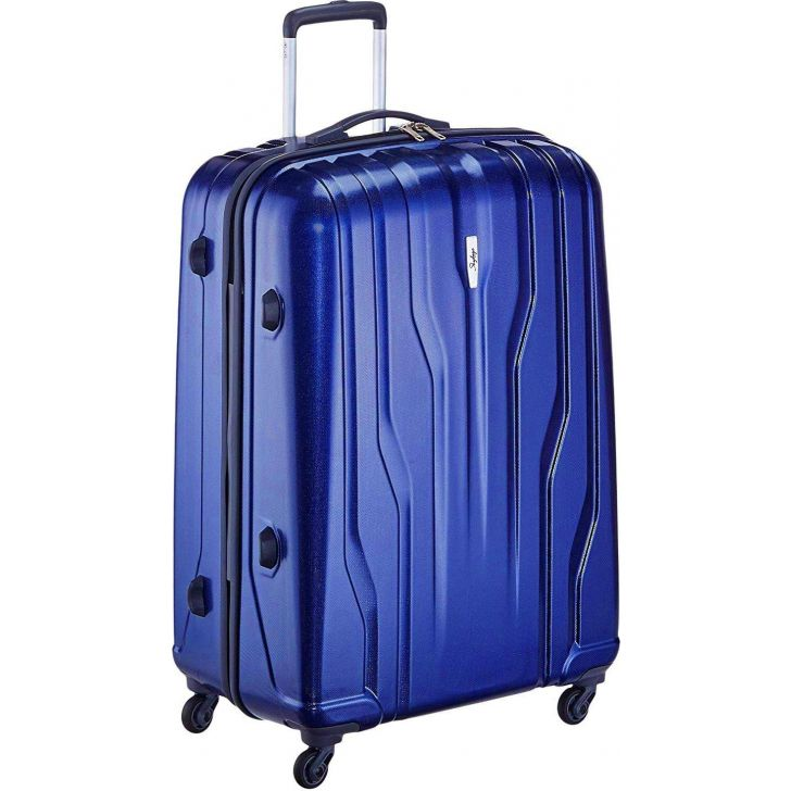Skybags Marshal 75 cm Blue Polycarbonate Hard Trolley Promo in Blue Colour by SKYBAGS