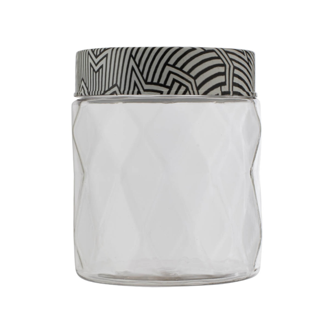Clark Container 1500ml Glass Containers in Transparent Container & Black Whitelid Colour by Living Essence