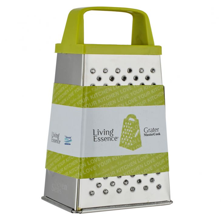 Ss 4 Sided Grater 6 Eco Stainless steel Knives & Graters in Silver Colour by Living Essence