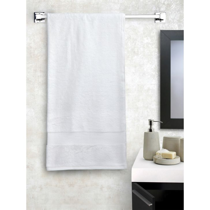 Portico New York Eva Bath Towel 150 cms x 75 cms in White Color by Portico