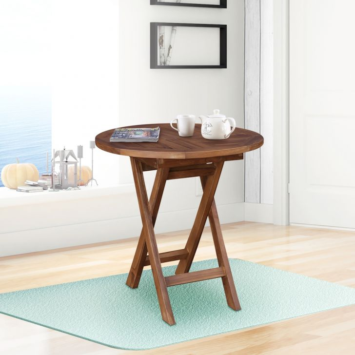 Ringo Solid Wood Folding Table in Teak Colour by HomeTown