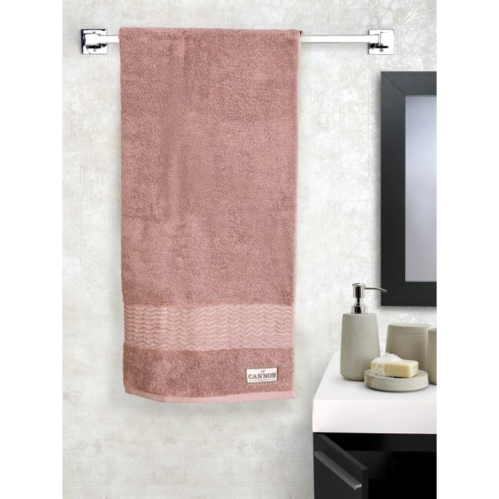 Smart Twist Cotton Bath Towels in Brown Colour by Cannon